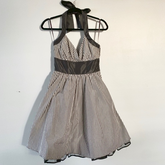 Betsey Johnson Dresses & Skirts - Betsy Johnson Gingham Halter Dress with Tulle